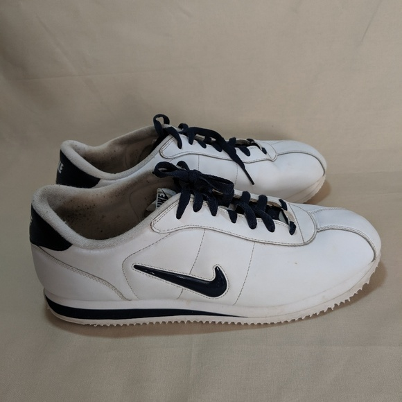 reputable site 3ef2f 282e2 Nike Cortez Men's Sneaker White Blue Size 14